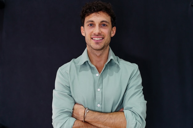 Portrait of a young caucasian entrepreneur Premium Photo