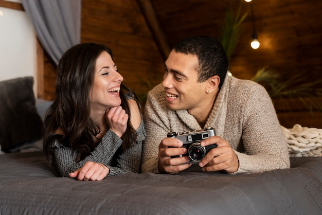 Portrait of young couple together Free Photo