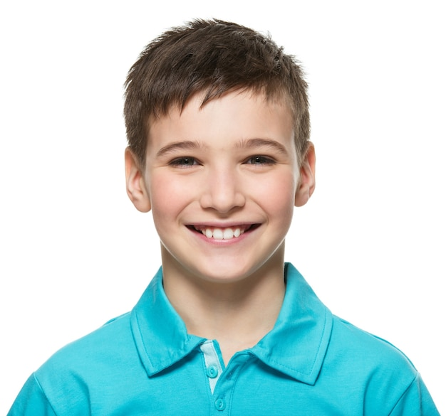 Portrait of  young happy teen boy looking at camera. Free Photo