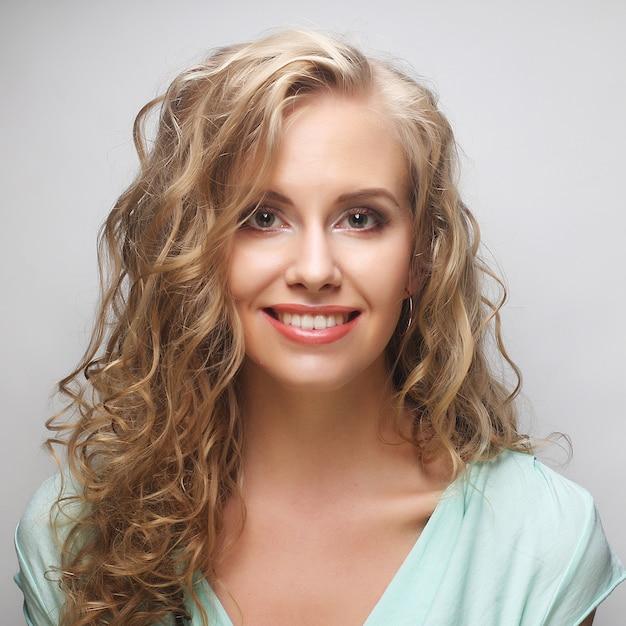 Portrait of young sensual blond woman. Premium Photo
