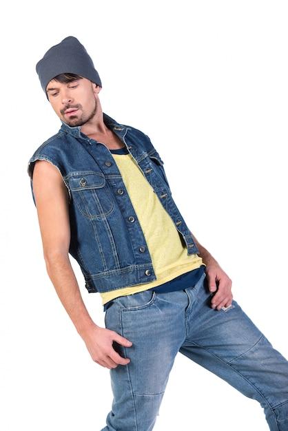 Portrait of young stylish dancer hip hop Premium Photo