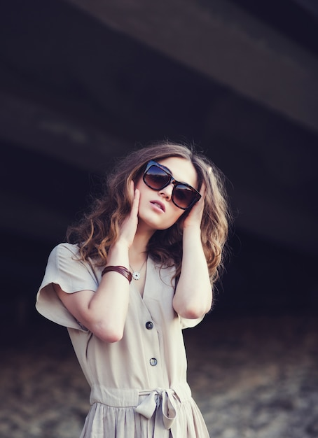 Portrait of a young stylish girl Premium Photo