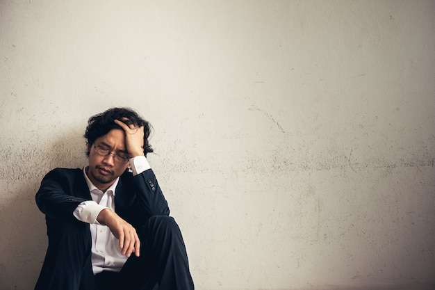 Portraits of asian businessman stressed from work Premium Photo