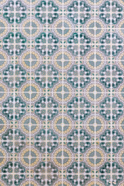 Portuguese azulejo tiles Premium Photo