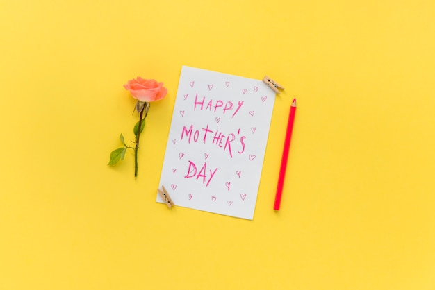 Postcard for mother`s day celebration Free Photo