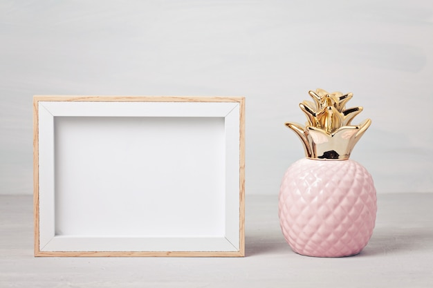 Poster frame with decor elements Premium Photo