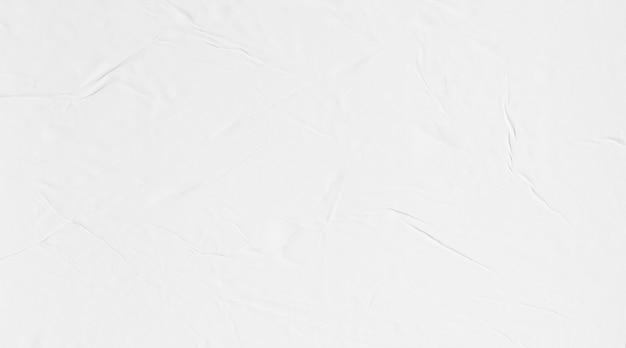Макет постерной бумаги, клееный мятый текстуру бумаги Premium Фотографии