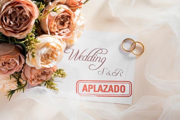 Postponed wedding Premium Photo