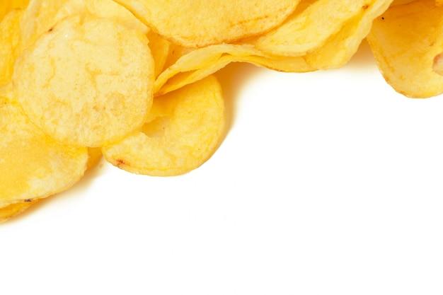 Potato chips isolated Premium Photo
