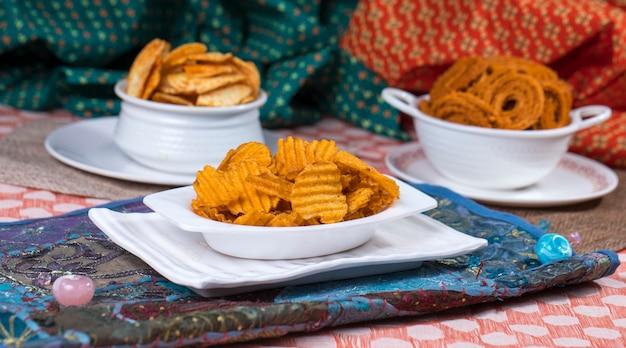 Potato chips Premium Photo