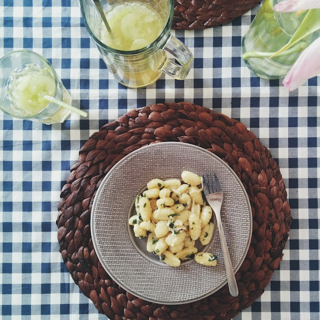 Potato dumplings with parmesan cheese Free Photo