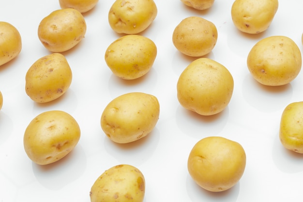 Potato isolated on white background Premium Photo