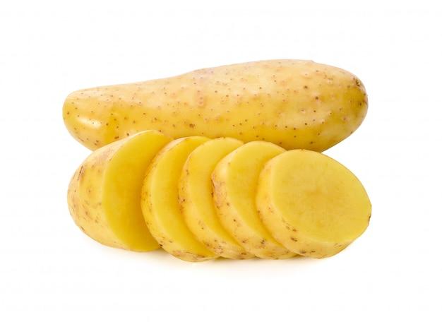 ジャガイモは、白い背景で隔離。 Premium写真