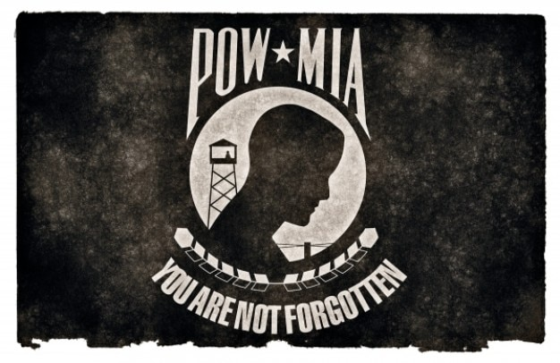 pow mia grunge flag Free Photo