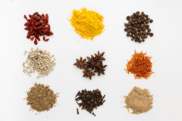 Powder condiments for cooking Free Photo