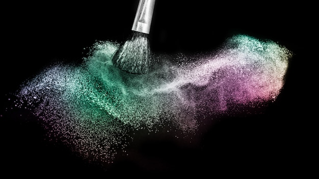 Powder of galaxy and nebula spreading effect Premium Photo