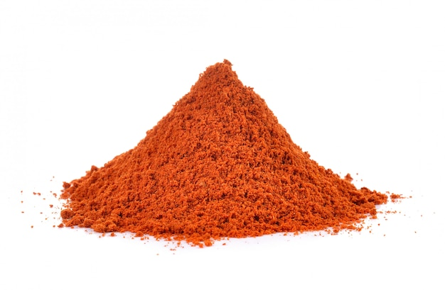 Powdered dried red pepper isolated Premium Photo