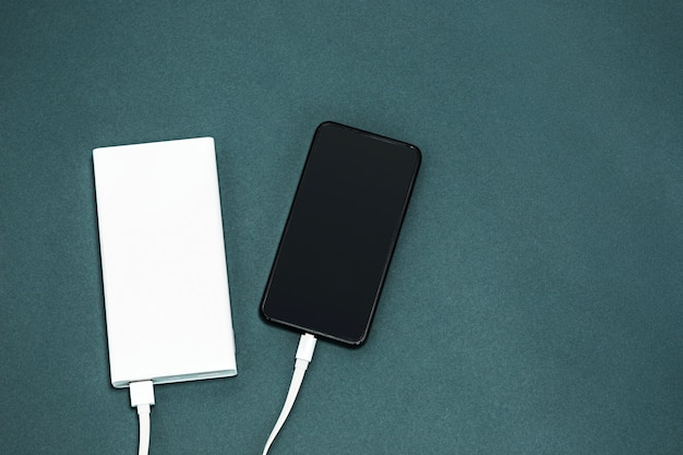 Power bank and mobile phone Free Photo