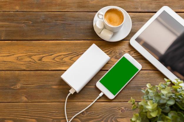 Powerbank зарядка смартфона Premium Фотографии