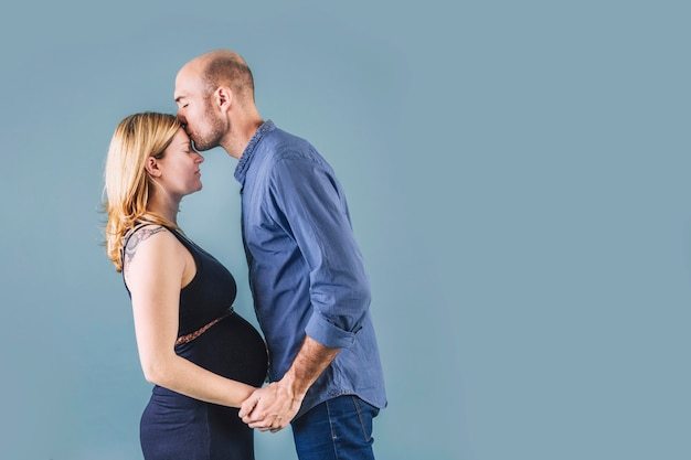 Pregnant woman with husband Free Photo