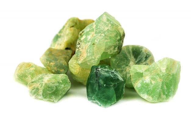 Prehnite mineral for accessories industrial isolate Premium Photo