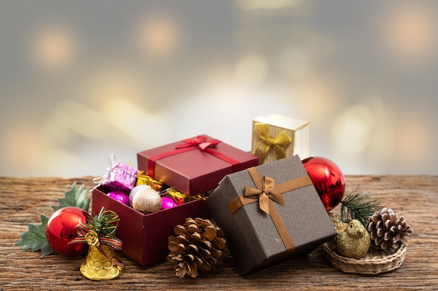 present box with color ribbon on white background for christmas birthday special occassion premium photo