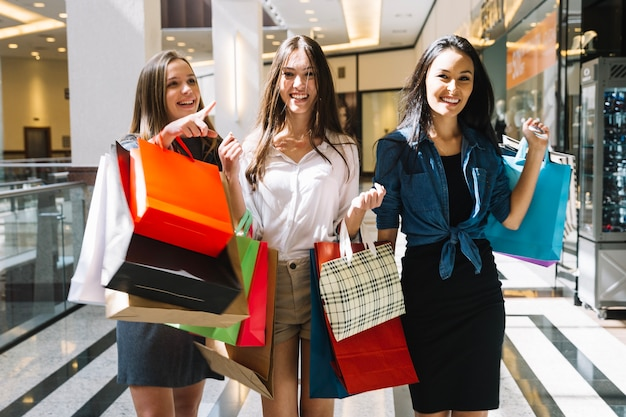 Free Photo | Pretty girls walking in shopping mall