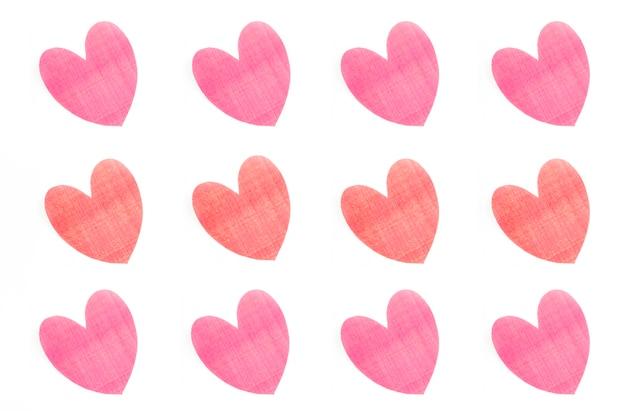 Pretty hearts composition Free Photo
