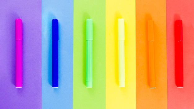 Pride flag with colorful felt-tip pen Free Photo