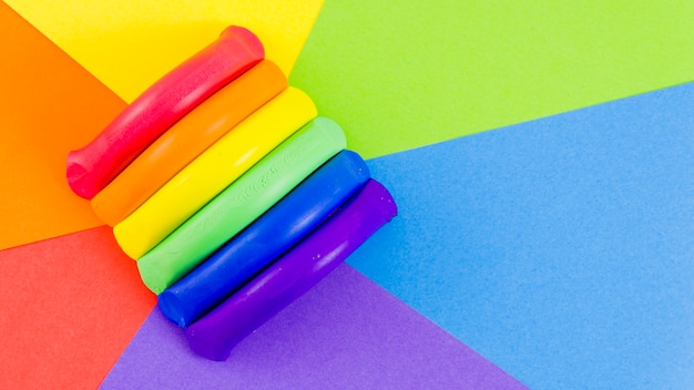 Pride flag with colorful paint Free Photo