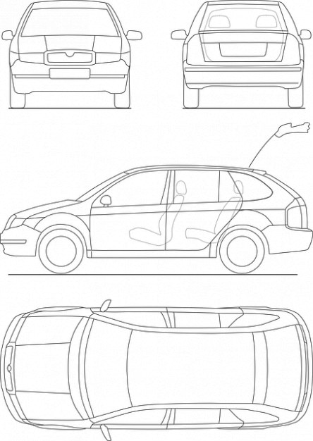 Print car transportation drive blueprint Photo | Free Download