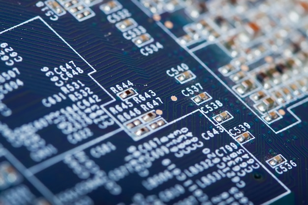 Printed circuit as background Free Photo