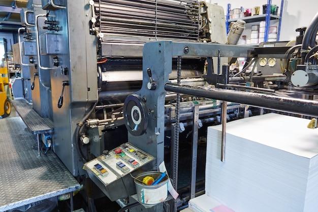 Printer ink machine rotary printing Premium Photo