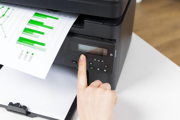 Printer in office Premium Photo