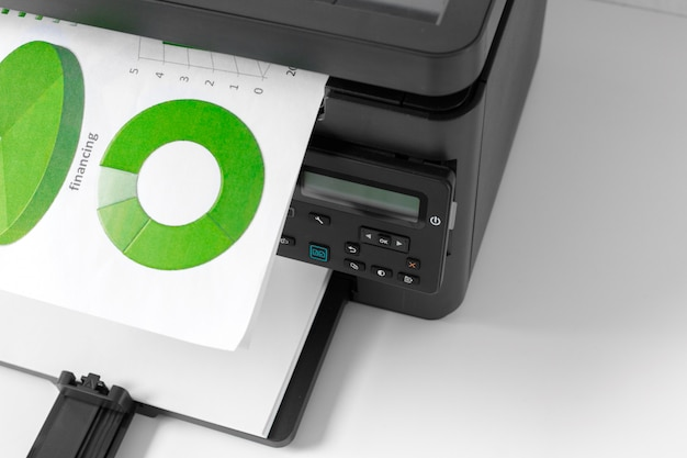 Printer on the table Premium Photo
