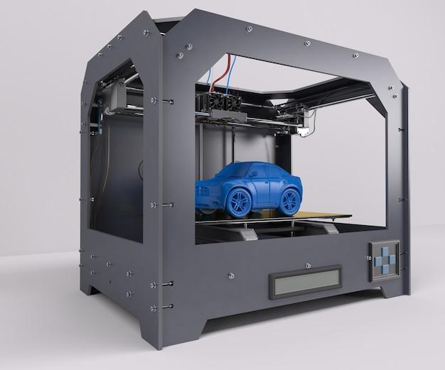 Printing a blue car Free Photo