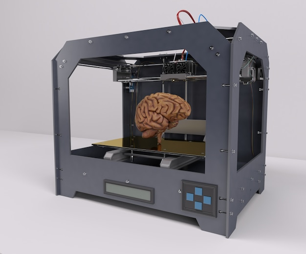 Printing a human brain Free Photo