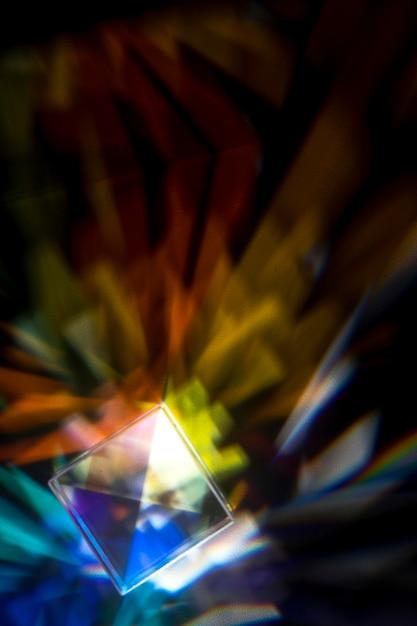 Призма рассеивает разноцветные огни Бесплатные Фотографии