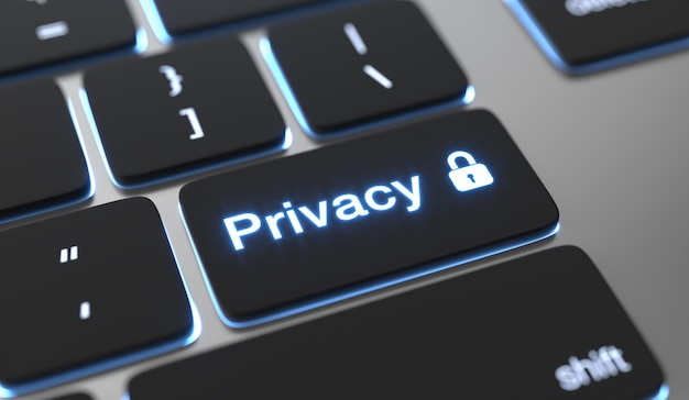 Privacy text on keyboard button Premium Photo