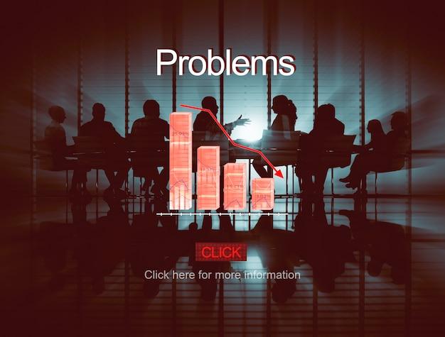 Problems risk deflation depression bankruptcy concept Free Photo