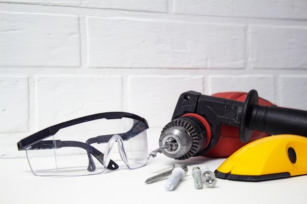 Professional tool for drilling Premium Photo