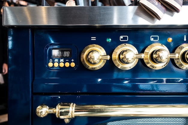 Professional vintage oven detail Free Photo