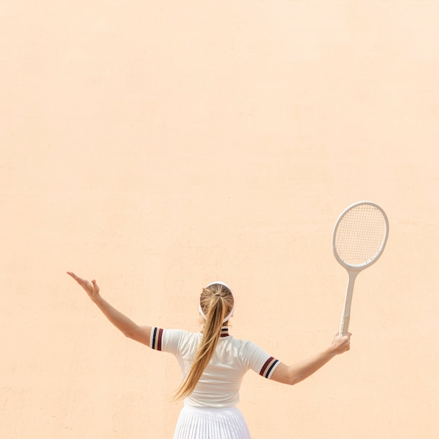 Professional woman tennis player on field Free Photo
