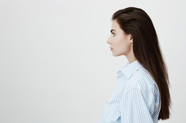 Profile of confident female entrepreneur looking left Free Photo