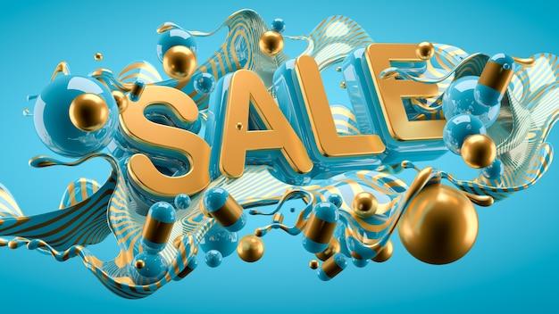 Promo poster of a big sale and mega discounts Premium Photo