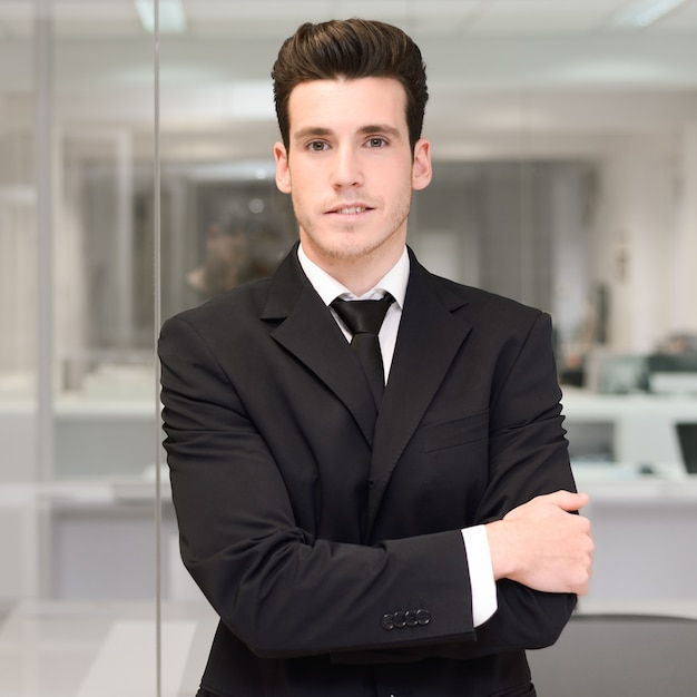 Proud young executive ready to start Free Photo
