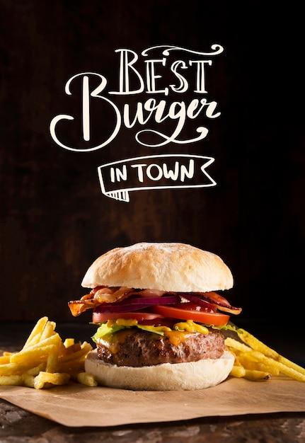 おいしいハンバーガーのパブプロモーション 無料写真