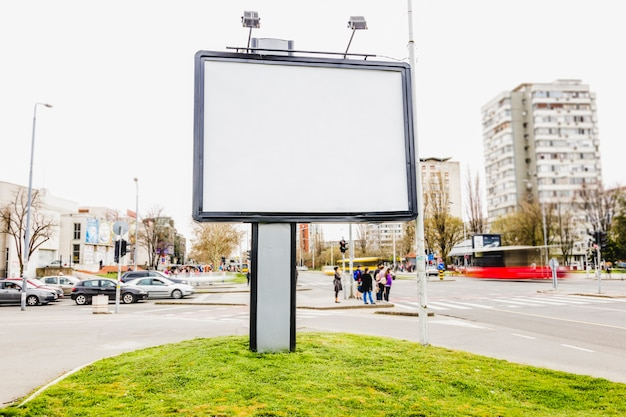 Public billboard on the street for advertising in the city Free Photo
