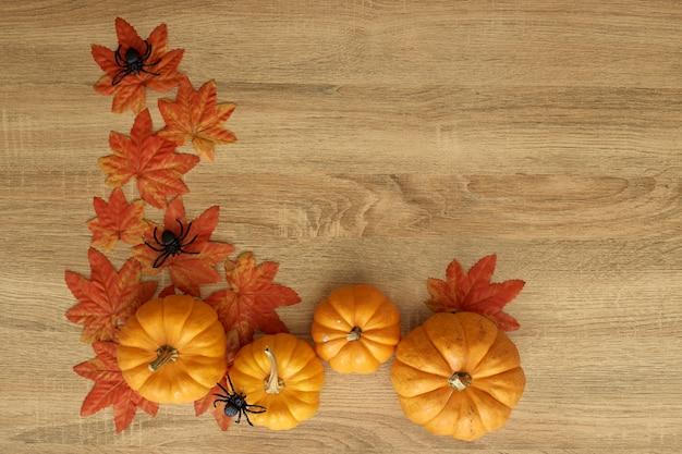 Pumpkin autumn thanksgiving background Premium Photo