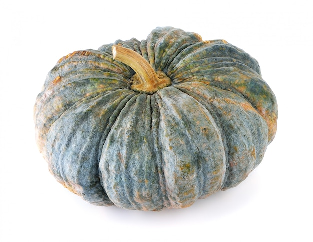 Pumpkin isolated on the white Premium Photo
